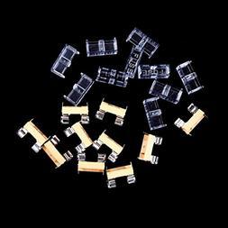 Bazzano 10pcs Glass Fuse Holder Transparent Holder Cover Fus