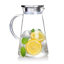 20 Liter 68 Ounces Glass Pitcher With Lid