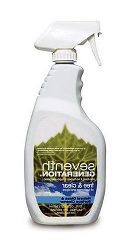 Seventh Generation Glass & Surface Cleaner, Free & Clear, 32