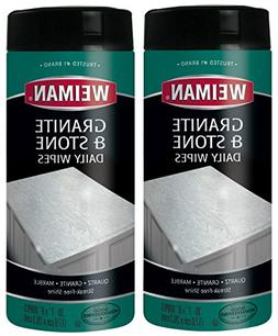 Weiman Granite Wipes - Clean, Brighten, and Protects Solid S