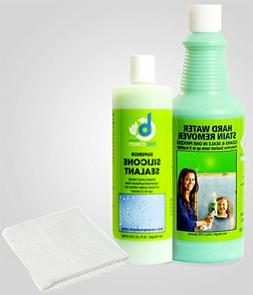 Hard Water Stain Remover Sealant & Magic Cloth.for Tough Har