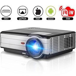Full HD Projector WiFi Bluetooth 2018 LED LCD WXGA Home Thea