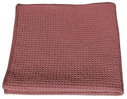HoneyComb Microfiber Glass Cleaning Cloths 16x16 - Red 12 Pa