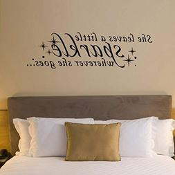 Inspirational Wall Decal Sparkle Wall Quote Vinyl Motivation