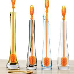 kitchen bar silicone bottle glass cleaner scrubbing