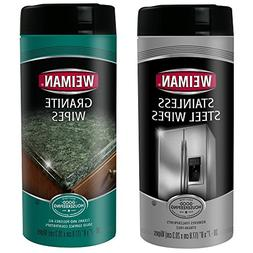 Weiman Stainless Steel Wipes and Granite Wipes  - Keep Your