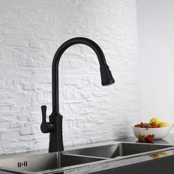 Kitchen Faucet 2-way Pull Out Spray 360 Swivel Rotation Bras