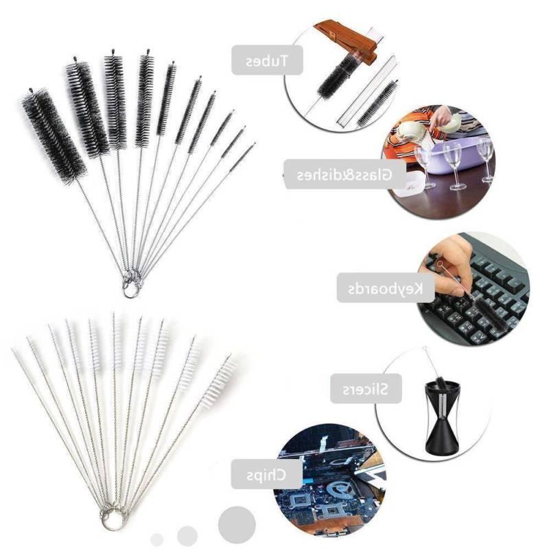 10pcs Nylon Household Bottle Brush Pipe Cleaner Glass Tube C