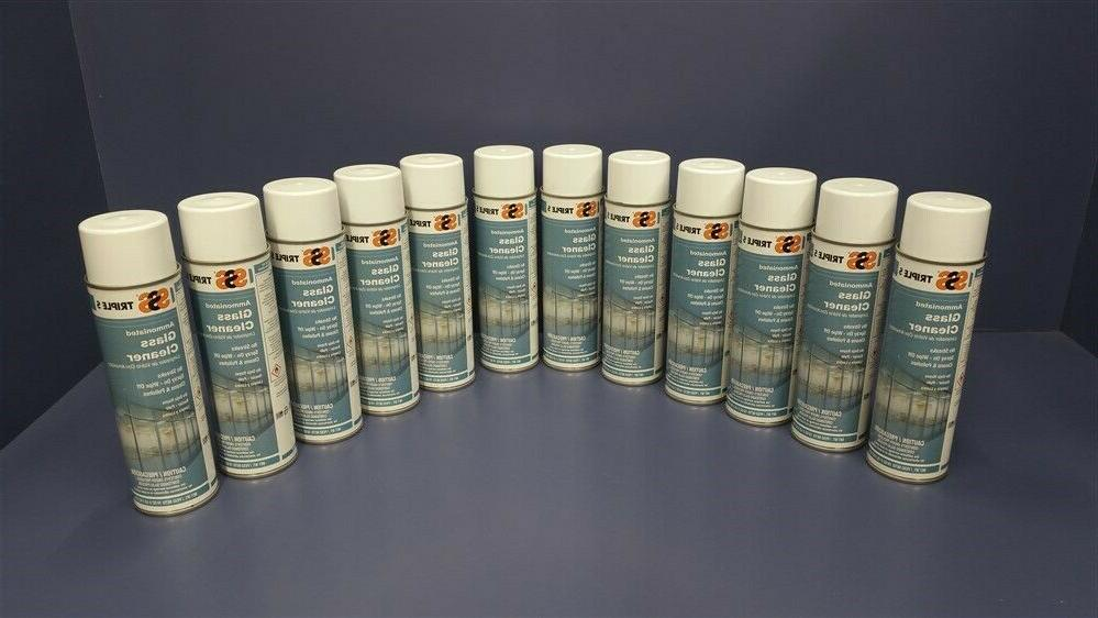 12 cans ammoniated glass cleaner no streaks