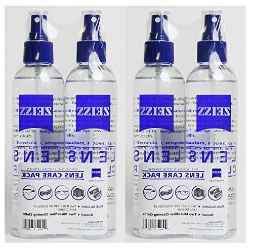 2 Lens Spray Glasses + Microfiber Cleaning Cloths