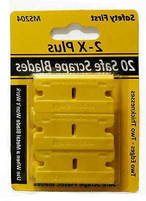 20 Plastic Razor Blades Double Edged with Thicker and Thinne