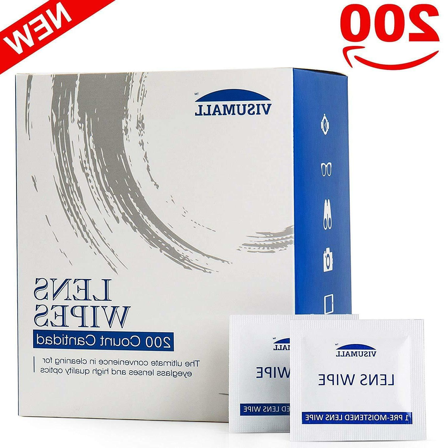 200 ct lens cleaning wipes for eye