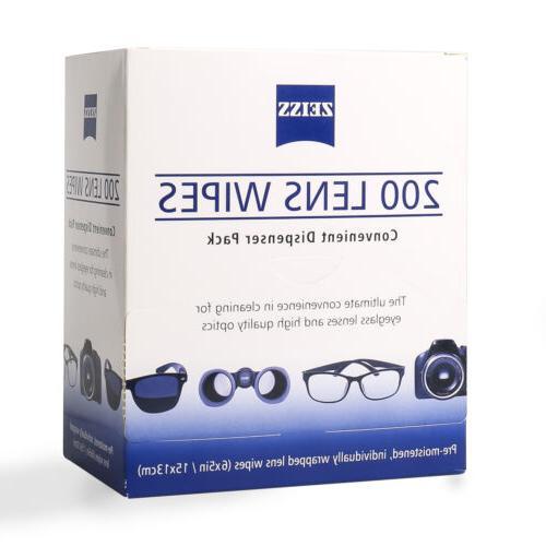 moistened lens cloths wipes glasses
