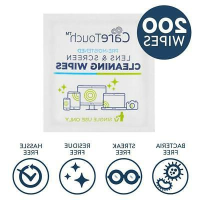 210 Individually Wipes Lens Pre Moistened Cloths