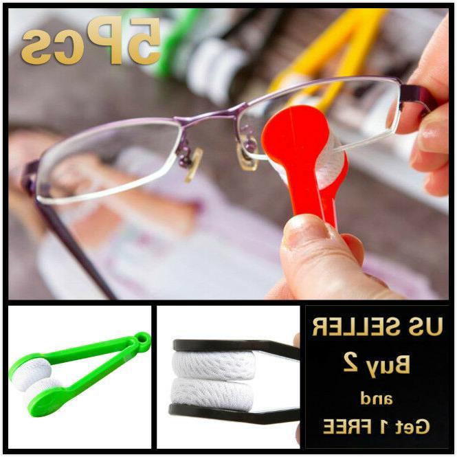 5pcs sun glasses eyeglass cleaner microfiber cloth