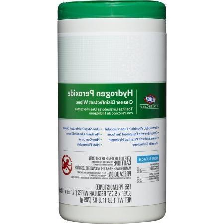 Saalfeld 30825 Hydrogen Peroxide Cleaner Disinfectant Wipes,