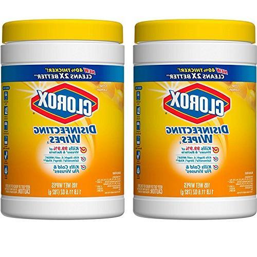 Clorox Disinfecting Wipes, Crisp Lemon - 105 Each , 2-Pack