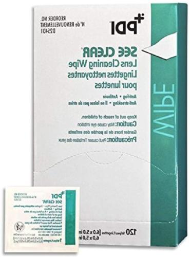 PDI D25431 See Clear Eye Glass Cleaning Wipes