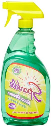 A J Funk & Co 30345 Sparkle Glass Cleaner, Green Formula, 33