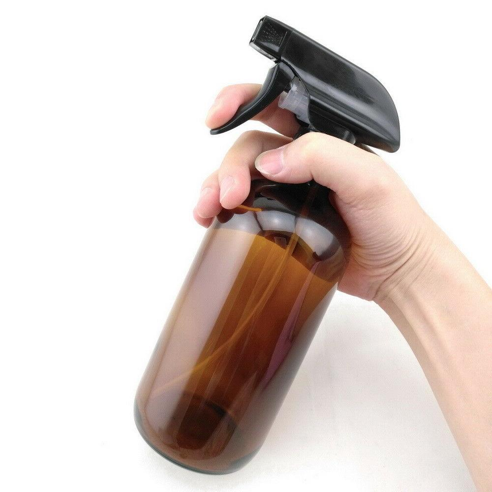Amber Spray Bottle Glass DIY Home Cleaner Large