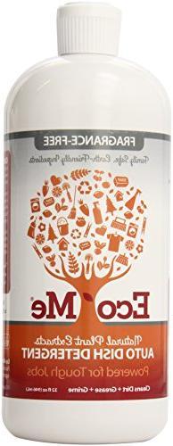 Eco-Me Natural Auto Dish Soap, Fragrance-free, 32 Fluid Ounc