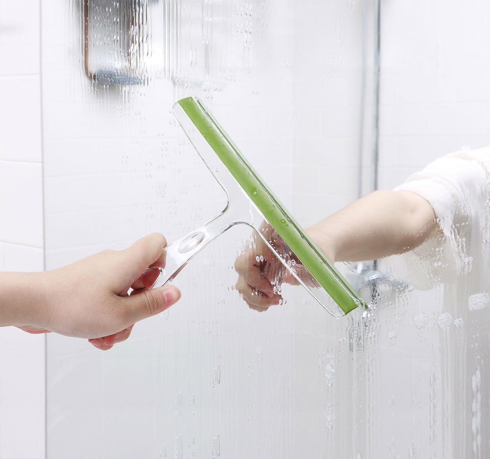 Ettori Shower Squeegee Clear Glass Cleaner Wiper