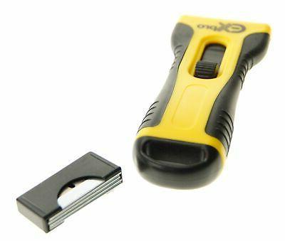 GLASS & CERAMIC HOB SCRAPER KNIFE CLEANER & 5 SPARE BLADES