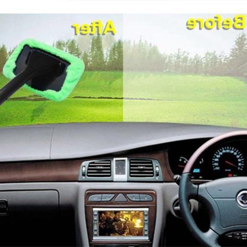 Microfiber Clean Car Window Brush Tool