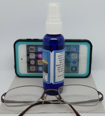 Clear Eye Glasses Lens Spray Cloth Streaks Residue