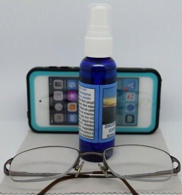 Clear Horizons Eye Glasses Cleaner Spray Cloth Streaks No Residue