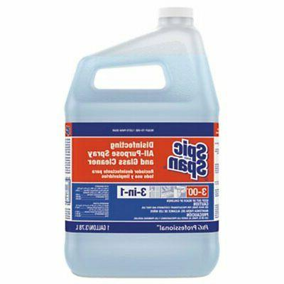 disinfecting spray and glass cleaner 3 gallons