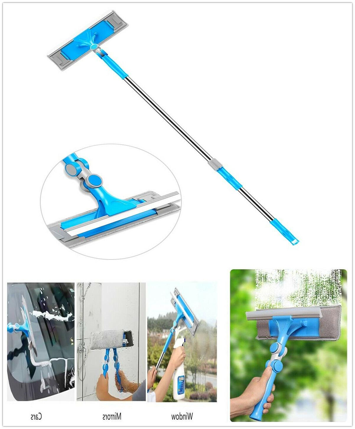 extendable window squeegee cleaning tool car windshield