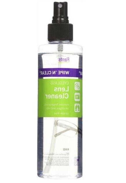 Flents Wipe N Clear Eyeglass Lens Cleaner 8 fl oz 236 ml NEW