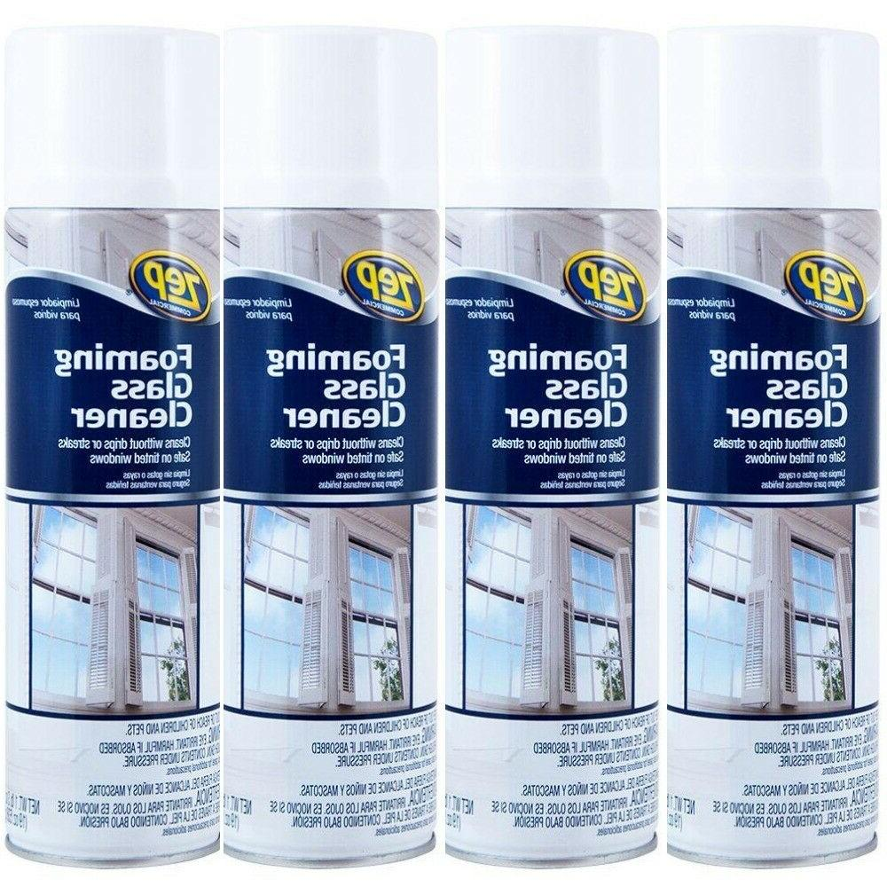 foaming glass cleaner aerosol streak free regular