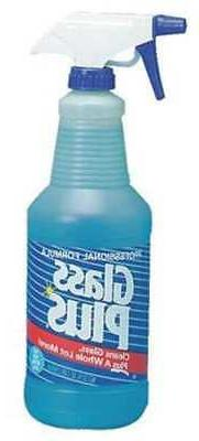 Glass Cleaner,32 oz.,Blue,PK12 GLASS PLUS 94378