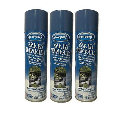 glass cleaner spray 23 oz cans 3ct