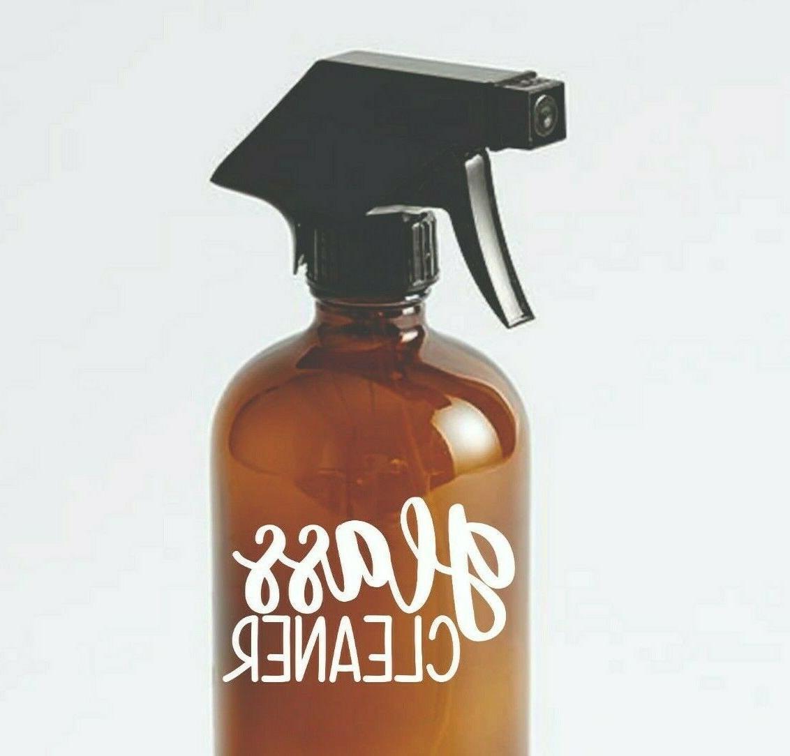 glass cleaner spray bottle dispenser label vinyl