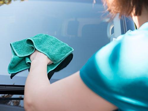 Microfiber Glass Cleaning - 8 Pack   Lint Free Free Quickly and Easily Windows Mirrors Without Chemicals