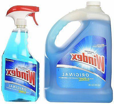 glass multi surface cleaner bottle