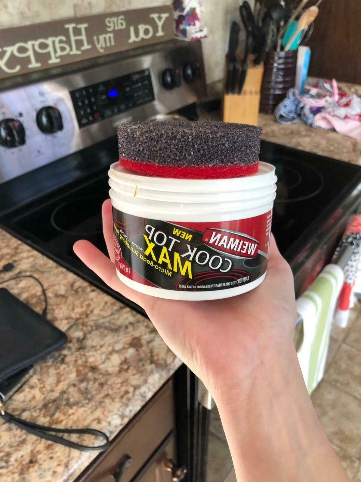 glass top cooktop cleaner max ounce easily
