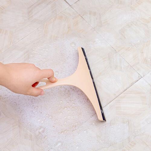 Glass Wiper Cleaner Squeegee Shower Mirror Blade Brush