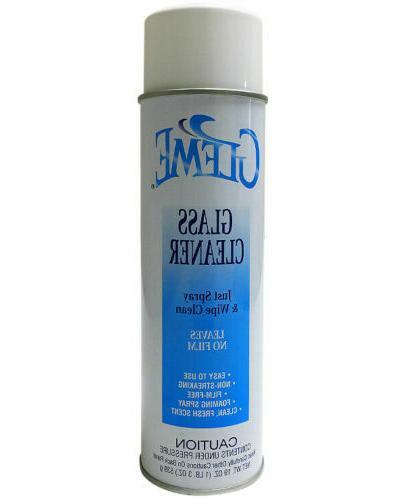 gleme glass cleaner aerosol 19 oz full