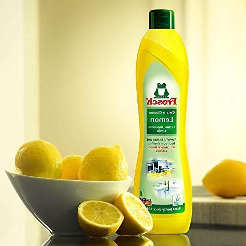 Frosch Natural Lemon Cream Cleaner, 16.9 oz
