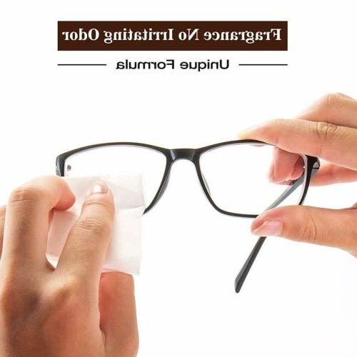 VISUMALL Cleaning Wipes Eye Glasses Lense Cleaner 100,