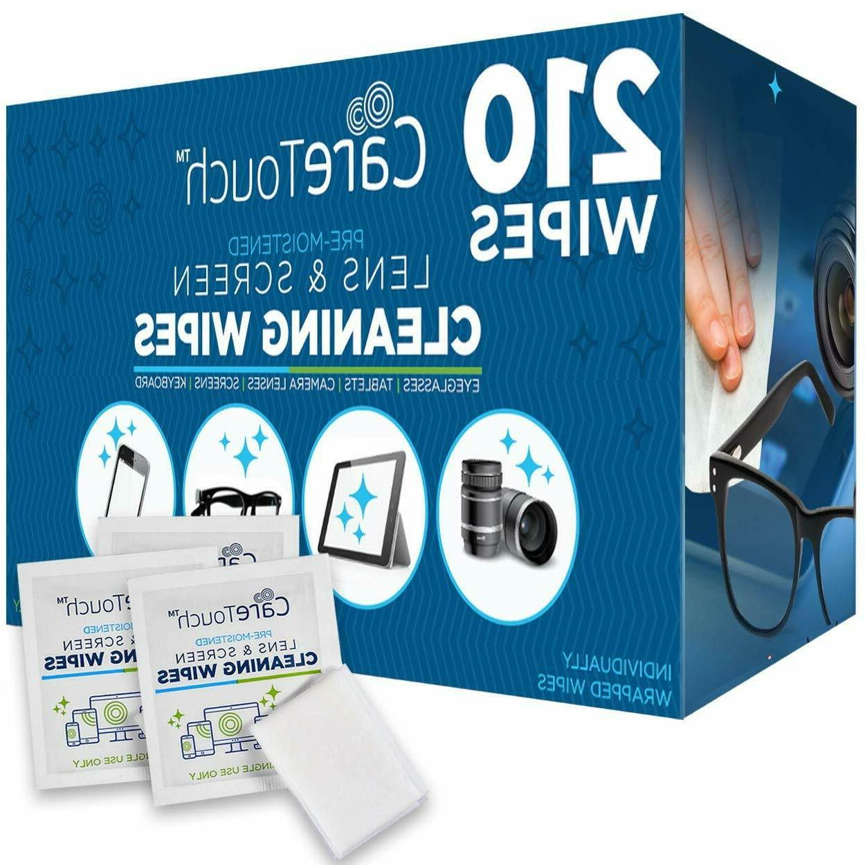 lens cleaning wipes pre moistened cloths 210