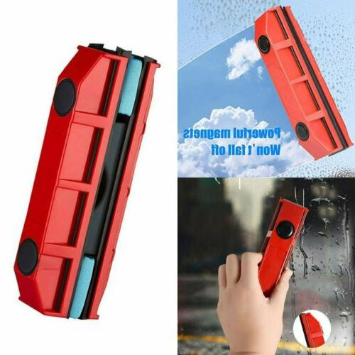 magnetic window cleaner for single glazed glass