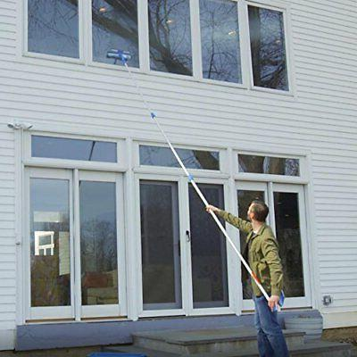 "Microfiber Window Combi Professional Squeegee Scrubber, 10"""