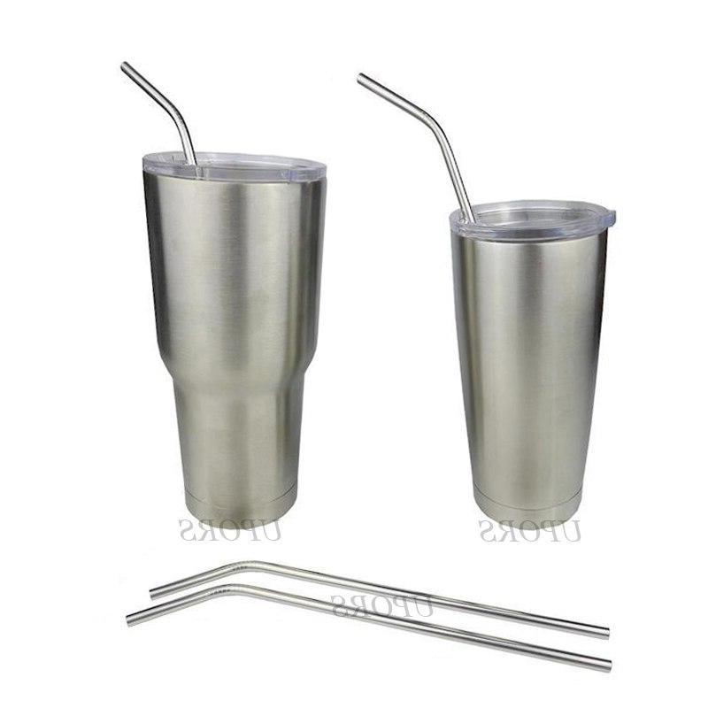 New 4Pcs/Set Reusable Steel Eco Straws <font><b>Glass</b></font> Mug