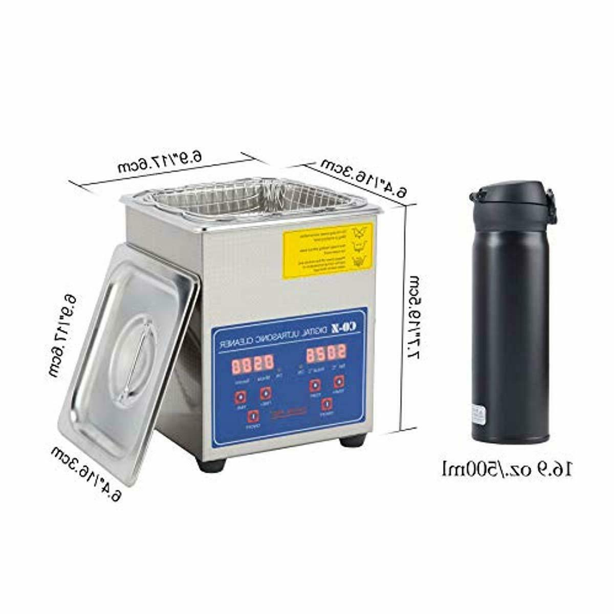 Professional Ultrasonic Cleaner 2L with Digital Jewelry Glasses