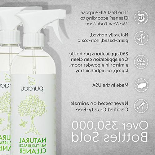Puracy All Cleaner, Household Multi-Surface Spray, Nontoxic, Green Tea & Lime,
